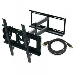 Ematic - EMW5104 - Ematic EMW5104 Wall Mount for TV, Monitor - 19 to 70 Screen Support - 110 lb Load Capacity - Aluminum Alloy - Black
