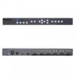 Gefen - EXT-DVIK-MV-41 - Gefen 4x1 DVI KVM Multiview Switcher - 4 Computer(s) - 1 Local User(s) - 1920 x 1200 - 8 x USB - 6 x DVI - Rack-mountable