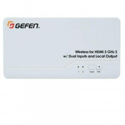 Gefen - EXT-WHD-1080P-LR-TX - Gefen Wireless for HDMI 5 GHz LR Sender Unit - 2 Input Device - 100 ft Range - 1 x USB - 2 x HDMI In - 1 x HDMI Out - Full HD - 1920 x 1080 - Wall Mountable