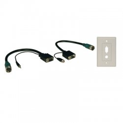Tripp Lite - EZA-VGAAX-2 - Tripp Lite Easy Pull Type-A Connectors - (M/F set of VGA with Audio and Faceplate)
