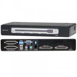 Belkin / Linksys - F1DA104Z - Belkin OmniView F1DA104Z 4-Port USB & PS/2 KVM Switch - 4 x 1 - 2 x SCSI