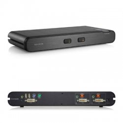 Belkin / Linksys - F1DN102B - Belkin OmniView KVM Switch - 2 Computer(s) - TAA Compliant