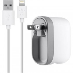 Belkin - F8J032tt04-WHT - Belkin Swivel Charger - 10 W Output Power - 5 V DC Output Voltage - 2.10 A Output Current