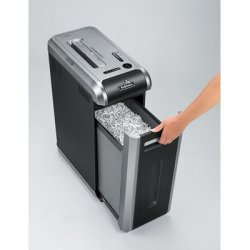 Fellowes - 3312001 - Fellowes Powershred 125i 100% Jam Proof Strip-Cut Shredder - Strip Cut - 18 Per Pass - 0.22 Shred Size - P-2 - 16 ft/min - 9 Throat - 14 gal Wastebin Capacity - Black, Dark Silver