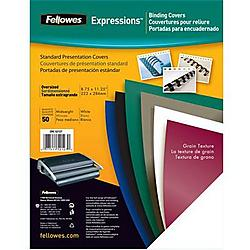 Fellowes - 52113 - Fellowes Linen Unpunched Presentation Covers - 11.3 Height x 8.8 Width x 0.1 Depth - For Letter 8 1/2 x 11 Sheet - Navy - Linen - 200 / Pack