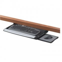 "Fellowes - 8031207 - Office Suites Deluxe Keyboard Drawer - 2.5"" Height x 30.9"" Width x 14.1"" Depth - Black"