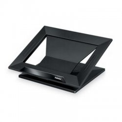 "Fellowes - 8038401 - Fellowes Notebook Stand - Up to 17"" Screen Support - 25 lb Load Capacity - 4"" Height x 13.2"" Width x 11.2"" Depth - Black, Black"
