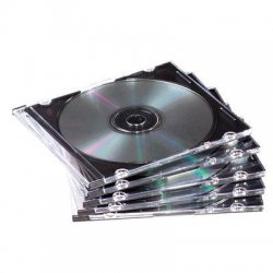 Fellowes - 98335 - Fellowes Slim Jewel Cases - 100 pack - Jewel Case - Book Fold - Plastic - Clear