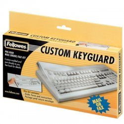 Fellowes - 99680 - Fellowes Antimicrobial Custom Keyguard Cover Kit - Supports Keyboard - Abrasion Resistant, Tear Resistant, Crack Resistant, Dust Proof, Antimicrobial - Polyurethane - Clear - 1
