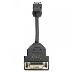 Hewlett Packard (HP) - FH973AT - HP Video Cable- Smart Buy - DisplayPort Male Video - DVI-D (Single-Link) Female Digital Video - 7.48""