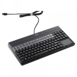 Hewlett Packard (HP) - FK221AT#ABA - HP POS Keyboard - 106 Keys - QWERTY Layout - 28 Relegendable Keys - USB