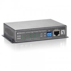 CP Tech / Level One - FSW-0513 - LevelOne FSW-0513 4-Ports Fast Ethernet High Power PoE Switch (120W) - 4 Ports - 4 x POE - 10/100Base-TX