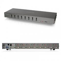 IOGear - GCS1108 - IOGEAR 8-Port DVI KVMP switch with VGA Support - 8 Computer(s) - 2046 x 1536 - 10 x USB - 9 x DVI1 x VGA - Rack-mountable