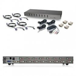 IOGear - GCS1108KIT2 - IOGEAR 8-Port DVI KVMP switch with VGA support and USB KV - 8 Computer(s) - 1 Local User(s) - 2048 x 1536 - 10 x USB - 9 x DVIVGA