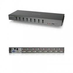 IOGear - GCS1208 - IOGEAR 8-Port Dual Link DVI KVMP with VGA Support - 8 Computer(s) - 1 Local User(s) - 2560 x 1600 - 10 x USB - 9 x DVI1 x VGA