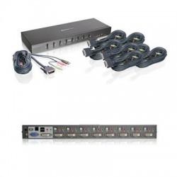 IOGear - GCS1208KIT1 - IOGEAR 8-Port Dual Link DVI KVMP Switch KIT - 8 Computer(s) - 1 Local User(s) - 2560 x 1600 - 12 x USB - 9 x DVI1 x VGA