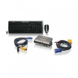 IOGear - GCS1732-KM1 - Network GCS1732-KM1 2Port USB KVM Switch with Wireless Mouse and Keyboard Retail