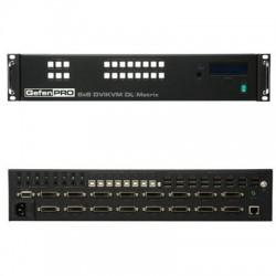 Gefen - GEF-DVIKVM-848DL-PB - Gefen 8x8 DVI KVM Dual Link Matrix w/ Push Button Control - 8 Computer(s) - 3840 x 2400 - 1 x Network (RJ-45) - 24 x USB - 16 x DVI - Rack-mountable - 2U