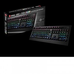 MSI - S11-04US220-CL4 - MSI GK-701 Mechanical Gaming Keyboard - Cable Connectivity - USB Interface - 104 Key - Compatible with Workstation, Computer (PC) - Mechanical - Black