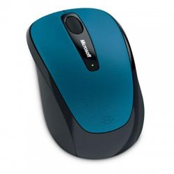 Microsoft - GMF-00014 - Microsoft 3500 Wireless Mobile Mouse - BlueTrack - Wireless - Radio Frequency - Sea Blue - USB - Scroll Wheel - Symmetrical