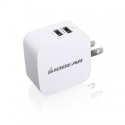 IOGear - GPAW2U4 - IOGEAR GearPower Dual USB 4.2A (20W) Wall Charger - 20 W Output Power - 110 V AC, 220 V AC Input Voltage - 5 V DC Output Voltage - 4.20 A Output Current