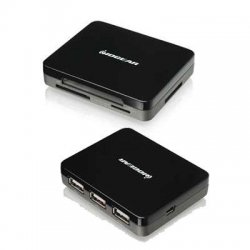 IOGear - GUH287 - IOGEAR GUH287 3-port Mini Combo Hub and Card Reader - USB - External - 3 USB Port(s) - 3 USB 2.0 Port(s)