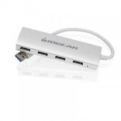 IOGear - GUH304 - IOGEAR met(AL) USB 3.0 4-P Hub - USB - External - 4 USB Port(s) - 4 USB 3.0 Port(s) - PC, Mac, Linux
