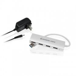 IOGear - GUH304P - IOGEAR met(AL) P4P Hub, 4-Port USB 3.0 Powered Hub with Aluminum Chassis - USB - External - 4 USB Port(s) - 4 USB 3.0 Port(s) - PC, Mac