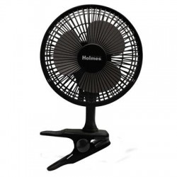 Jarden - HCF0611A-BM - Holmes HCF0611A-BM Desk Fan - 152.4 mm Diameter - 2 Speed - Clip-on, Adjustable Tilt Head - 12.6 Height x 7.9 Width x 8.7 Depth - Plastic Grille - Black