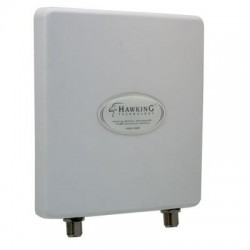 Hawking Technologies - HOA12DP - Hawking Outdoor Wireless-AC 12dBi Directional Antenna - Range - UHF, VHF2.40 GHz, 5 GHz - 12 dBi - Wireless Access Point - White - Wall Mount - Directional