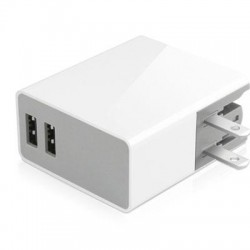 MacAlly / Mace Group - Home24U - Macally 24Watt with Two USB Port Home Charger - 24 W Output Power - 120 V AC, 230 V AC Input Voltage - 5 V DC Output Voltage - 2.40 A Output Current