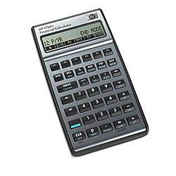 Hewlett Packard (HP) - F2234A#ABA - HP 17bII+ Financial Calculator - 250 Functions - 32 KB - RAM - 2 Line(s) - 22 Digits - LCD - Battery Powered - 2 - Button Cell
