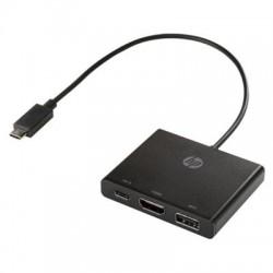 Hewlett Packard (HP) - 1BG94AA#ABL - HP USB-C to Multi-port Hub - USB Type C - External - 2 USB Port(s) - 2 USB 3.0 Port(s)