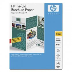 Hewlett Packard (HP) - C7020A - HP Brochure/Flyer Paper - Letter - 8 1/2 x 11 - 48 lb Basis Weight - Glossy - 98 Brightness - 100 / Pack - Glossy