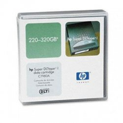 Hewlett Packard (HP) - C7980A - HP SDLT-320 Data Cartridge - Super DLTtape I - 220 GB (Native) / 320 GB (Compressed) - 1 Pack