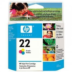 Hewlett Packard (HP) - C9352AN#140 - HP 22 Tri-Color Ink Cartridge - Inkjet - Standard Yield - 165 Page - 1 Each