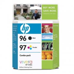 Hewlett Packard (HP) - C9353FN#140 - HP 96 / 97 Black and Tri-color Ink Cartridges - Black, Color - Inkjet - 860 Page Black, 560 Page Color - Retail