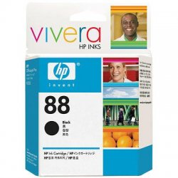 Hewlett Packard (HP) - C9385AN#140 - HP 88 Black Ink Cartridge - Inkjet - 820 Page - 1 Each