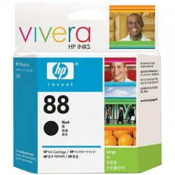 Hewlett Packard (HP) - C9396AN#140 - HP 88 Large Black Ink Cartridge - Inkjet - 2350 Page - 1 Each