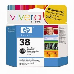 Hewlett Packard (HP) - C9413A - HP 38 Original Ink Cartridge - Single Pack - Inkjet - Standard Yield - 1340 Pages - Photo Black - 1 Each