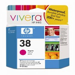Hewlett Packard (HP) - C9416A - HP 38 Original Ink Cartridge - Single Pack - Inkjet - Standard Yield - 5000 Pages - Magenta - 1 Each