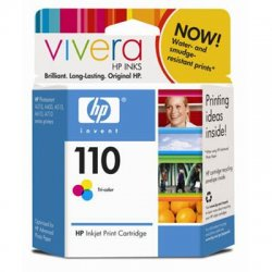 Hewlett Packard (HP) - CB304AN#140 - HP 110 Tri-Color Ink Cartridge - Color - Inkjet - 55 Page