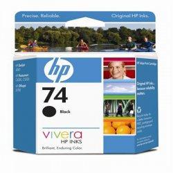 Hewlett Packard (HP) - CB335WN#140 - HP 74 Black Ink Cartridge - Inkjet - Standard Yield - 200 Page - 1 Each