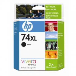 Hewlett Packard (HP) - CB336WN#140 - HP 74XL Black Ink Cartridge - Black - Inkjet - 750 Page
