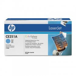 Hewlett Packard (HP) - CE251A - HP 504A Original Toner Cartridge - Single Pack - Laser - Standard Yield - 7000 Pages - Cyan - 1 Each