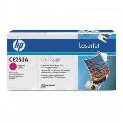 Hewlett Packard (HP) - CE253A - HP 504A Original Toner Cartridge - Single Pack - Laser - 7000 Pages - Magenta - 1 Each