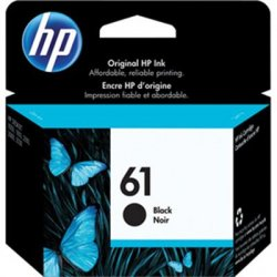 Hewlett Packard (HP) - CH561WN#140 - HP 61 Original Ink Cartridge - Single Pack - Inkjet - Standard Yield - 190 Pages - Black - 1 Each