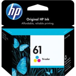 Hewlett Packard (HP) - CH562WN#140 - HP 61 Original Ink Cartridge - Cyan, Magenta, Yellow - Inkjet - 165 Page - 1 Each