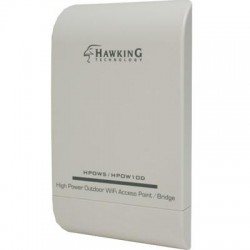 Hawking Technologies - HPOW10D - Hawking HPOW10D IEEE 802.11n 300 Mbit/s Wireless Access Point - 2.40 GHz - MIMO Technology - 2 x Network (RJ-45) - Wall Mountable, Pole-mountable - 1 Pack