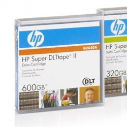 Hewlett Packard (HP) - Q2020A - HP Super DLT Tape ll Data Cartridge - Super DLTtape II - 300 GB (Native) / 600 GB (Compressed) - 2066 ft Tape Length - 1 Pack